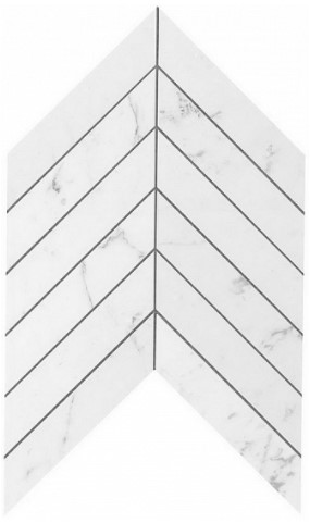 Керамогранитная мозаика Carrara Pure Chevron Wall 25x30.5 Atlas Concorde