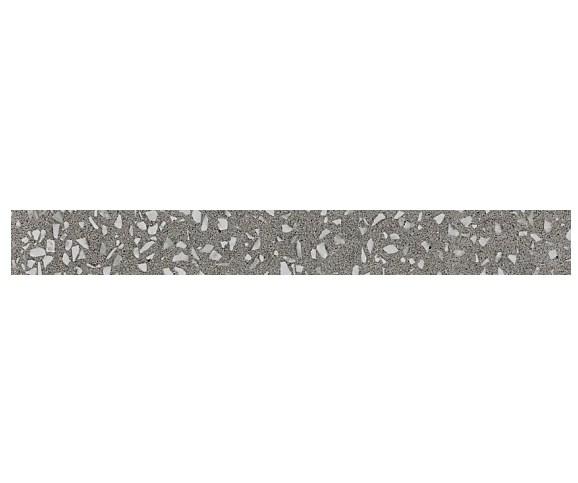 Керамогранитная мозаика бордюр Terrazzo Grey Listello Lapp лаппатированный  Atlas Concorde