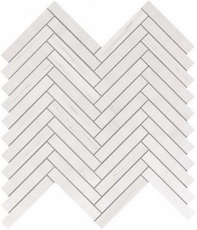 Керамогранитная мозаика Bianco Dolomite Herringbone Wall 30.5x30.5 Atlas Concorde