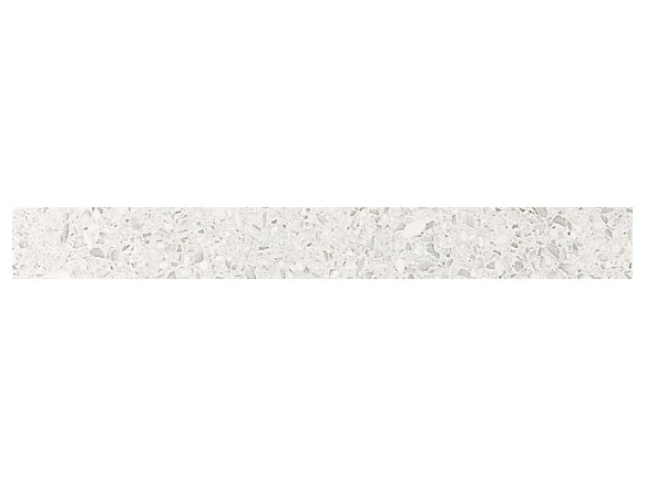 Керамогранитная мозаика бордюр Terrazzo White Listello Lapp лаппатированный  Atlas Concorde