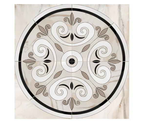 Керамогранит декор MUSEUM AURIS Панно ROS. DAUPHIN-G/88/P 88х88 (Peronda)