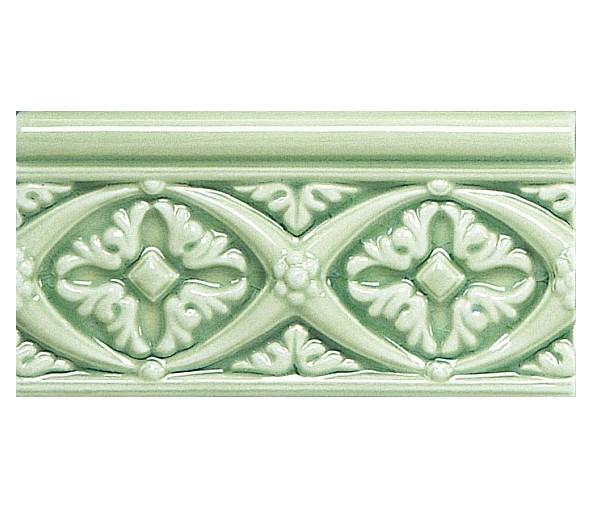 Бордюр ADEX MODERNISTA Relieve Bizantino C/C Verde Claro