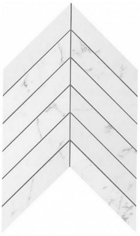 Керамогранитная мозаика Carrara Pure Chevron Wall 25x30.5 Atlas Concorde