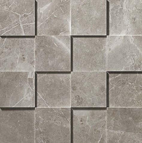 Керамогранитная мозаика Grey Fleury Mosaico 3D Рельефная, для стен 30x30 Atlas Concorde