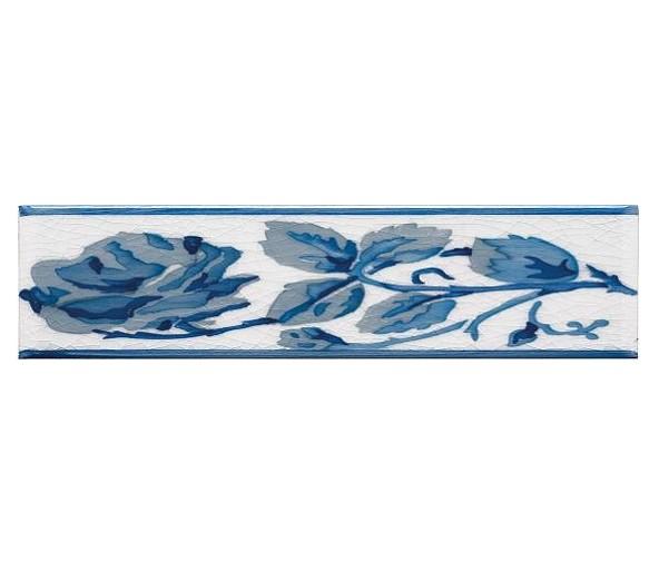 Бордюр ADEX MODERNISTA Cenefa Rosas PB Azul C/C B