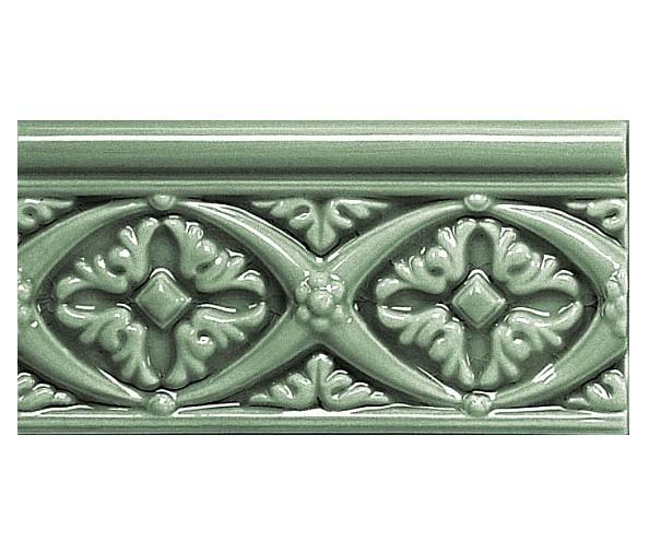 Бордюр ADEX MODERNISTA Relieve Bizantino C/C Verde Oscuro