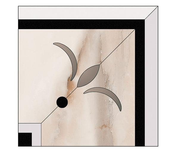 Керамогранит декор MUSEUM AURIS вставка E. DAUPHIN-G/44/P 22х22 (Peronda)