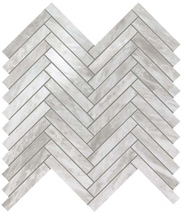 Мозаика НАСТЕННАЯ MARVEL STONE BARDIGLIO GREY HERRINGBONE WALL Atlas Concorde (Италия)