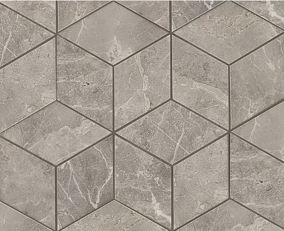 Керамогранитная мозаика Grey Fleury Mosaico Esagono Lappato Полуполированная 30x35 Atlas Concorde