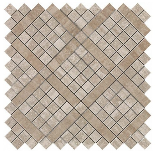 Керамогранитная мозаика Travertino Silver Diagonal Mosaic 30.5x30.5 Atlas Concorde