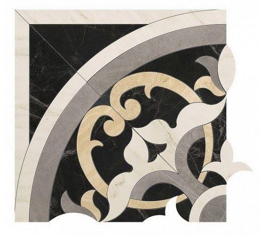 Керамическая плитка Elegance Angolo Dark  Atlas Concorde