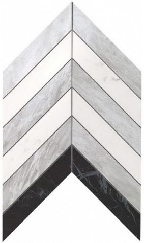 Керамогранитная мозаика Chevron Mix Wall 25x30.5 Atlas Concorde