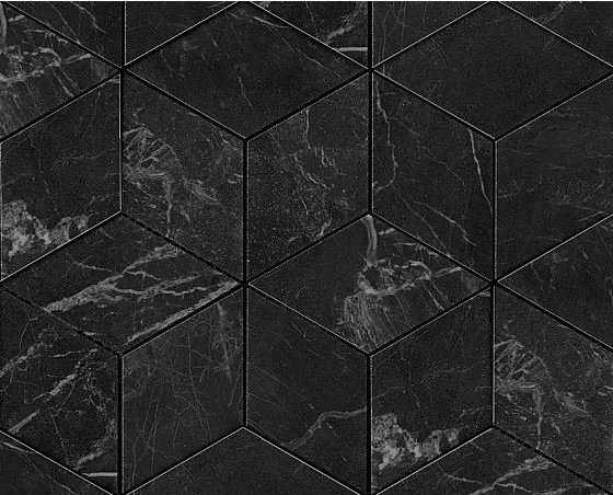 Керамогранитная мозаика Noir St. Laurent Mosaico Esagono Lappato Полуполированная 30x35 Atlas Concorde