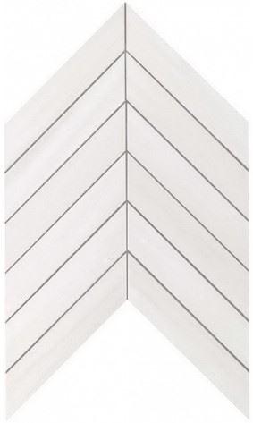 Керамогранитная мозаика Bianco Dolomite Chevron Wall 25x30.5 Atlas Concorde