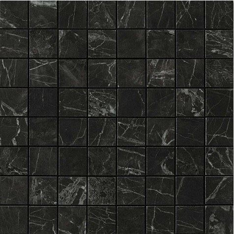 Керамогранитная мозаика Noir St. Laurent Mosaico Matt Матовая 30x30 Atlas Concorde