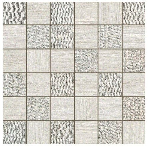 Керамогранитная мозаика Travertino White Mosaico Mix 30x30 Atlas Concorde
