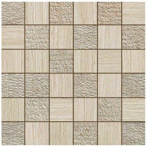 Керамогранитная мозаика Travertino Almond Mosaico Mix 30x30 Atlas Concorde