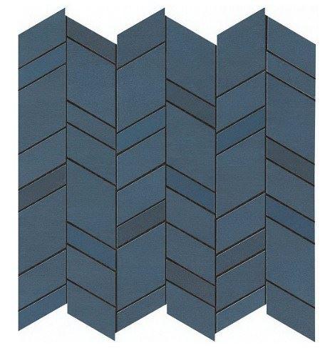 Керамогранитная мозаика Blue Mosaico Chevron 30.5x30.5 Atlas Concorde