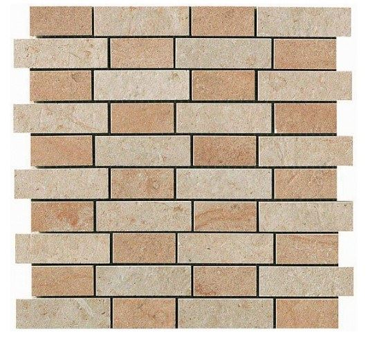 Керамогранитная мозаика Jerusalem Ivory + Bourgogne Sand Mosaico Fabric 30x30 Atlas Concorde