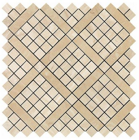 Керамогранитная мозаика Travertino Alabastrino Diagonal Mosaic 30.5x30.5 Atlas Concorde (Италия)