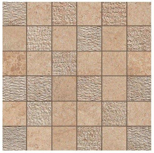 Керамогранитная мозаика Bourgogne Sand Mosaico Mix 30x30 Atlas Concorde