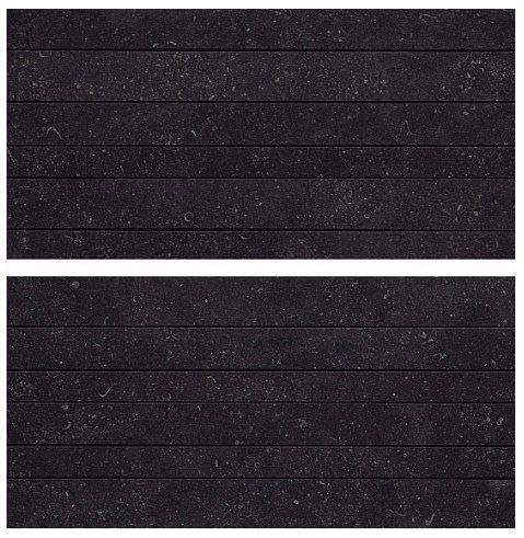 Керамогранит Black Mosaico Linea Mix2 /Комплект из 2 плиток/ 30x60 Atlas Concorde
