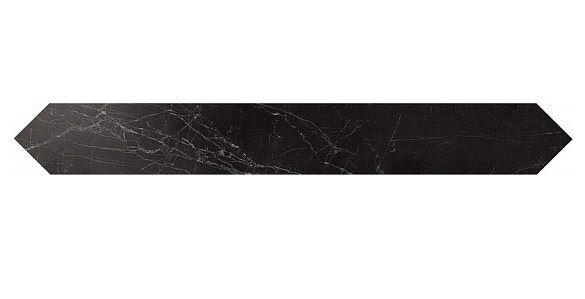 Керамическая плитка бордюр Noir St.Laurent Listello Esagono Lappato полуполированный  Atlas Concorde