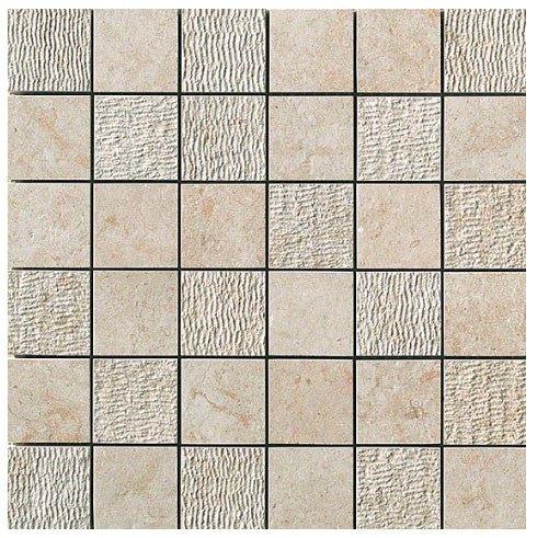Керамогранитная мозаика Jerusalem Ivory Mosaico Mix 30x30 Atlas Concorde