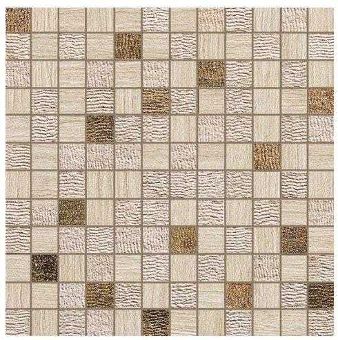 Керамогранитная мозаика Travertino Almond Mosaico Gold 30x30 Atlas Concorde