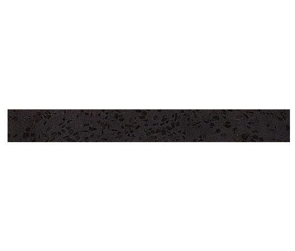 Керамогранитная мозаика бордюр Terrazzo Black Listello Lapp лаппатированный  Atlas Concorde