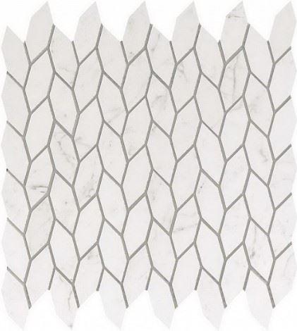 Керамогранитная мозаика Bianco Dolomite Twist 30.5x30.5 Atlas Concorde