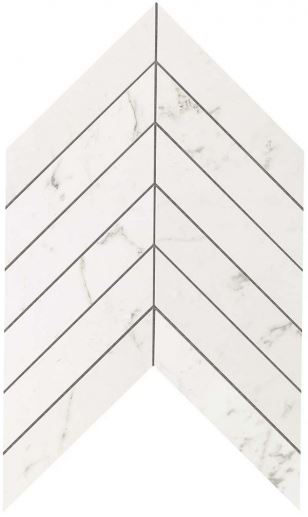 Мозаика НАСТЕННАЯ MARVEL STONE CHEVRON CARRARA PURE WALL Atlas Concorde