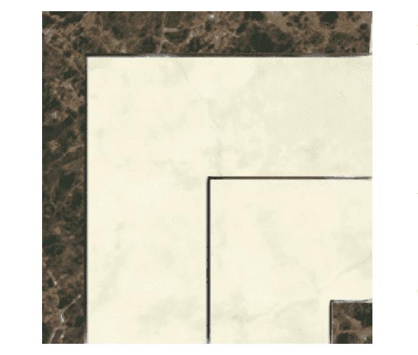 Декоративный элемент (Керамогранит) PERONDA MUSEUM OPALO-BACH-ONICE-ZAR Вставка E. ZAR-B/P