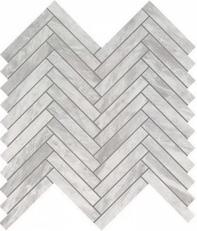 Керамогранитная мозаика Bardiglio Grey Herringbone Wall 30.5x30.5 Atlas Concorde