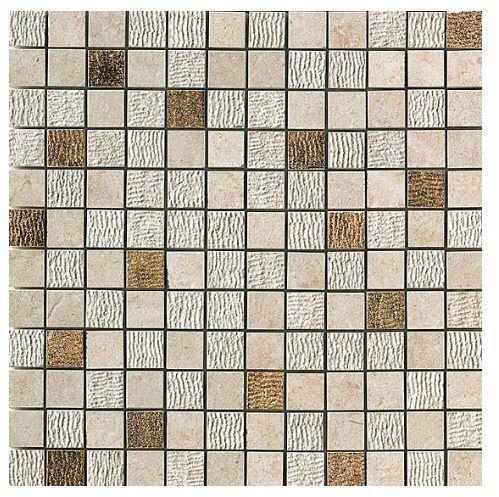 Керамогранитная мозаика Jerusalem Ivory Mosaico Gold 30x30 Atlas Concorde