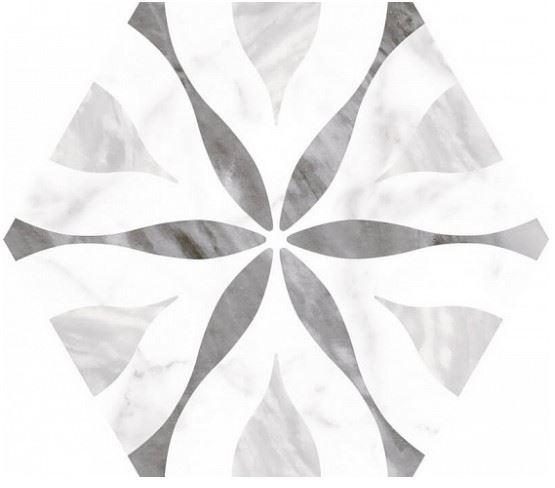 Напольная плитка / Керамогранит EQUIPE BARDIGLIO Hexagon Decor Flower (несколько вариантов паттерна)