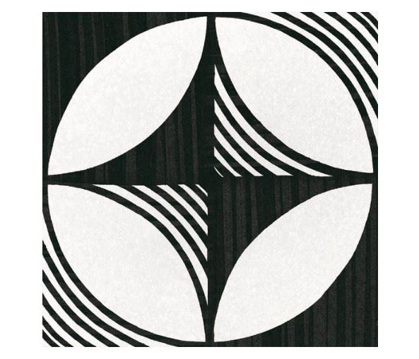 Керамогранит EQUIPE CAPRICE DECO Deco Compass B&W