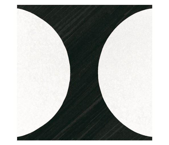 Керамогранит EQUIPE CAPRICE DECO Deco Moonline B&W (2 видов паттерна)