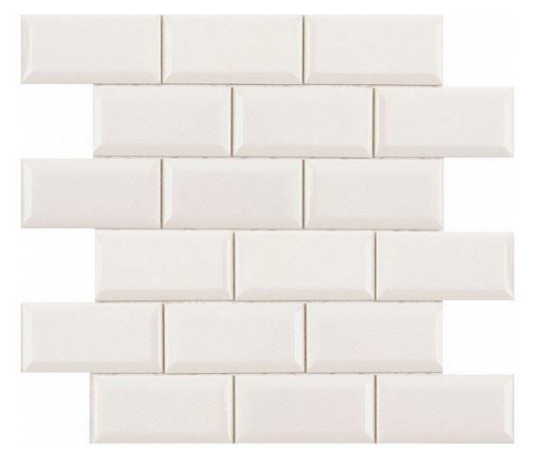 Декоративные элементы ADEX MODERNISTA Декор Biselado PB C/C Blanco (5х10) Enmallado