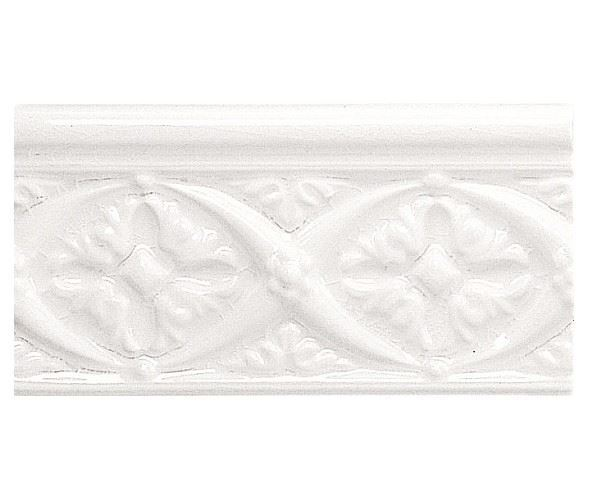 Бордюры ADEX MODERNISTA Relieve Bizantino C/C Blanco