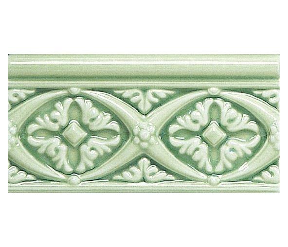 Бордюры ADEX MODERNISTA Relieve Bizantino C/C Verde Claro