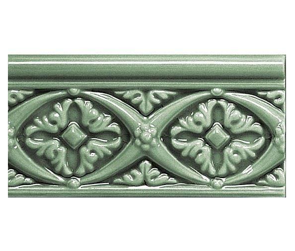 Бордюры ADEX MODERNISTA Relieve Bizantino C/C Verde Oscuro
