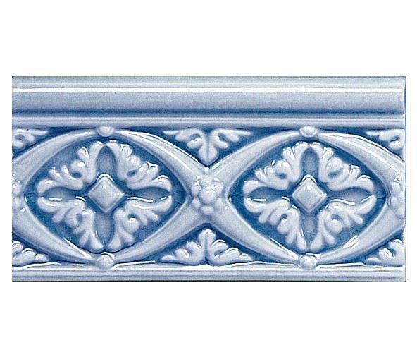 Бордюры ADEX MODERNISTA Relieve Bizantino C/C Azul Oscuro