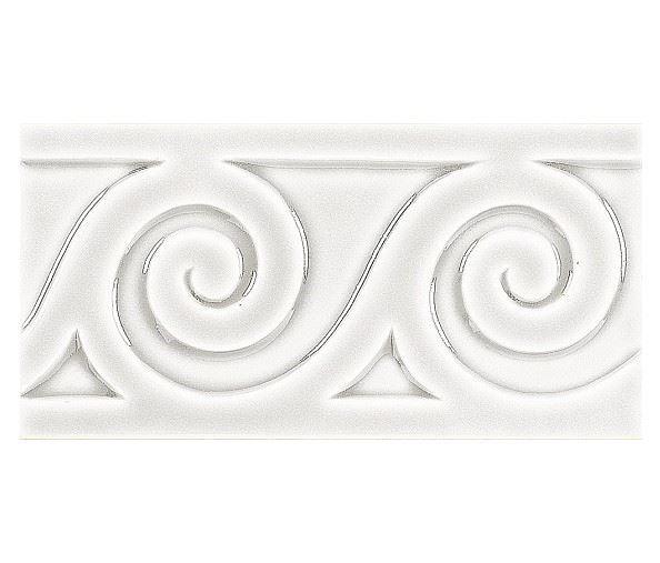 Бордюры ADEX MODERNISTA Relieve Mar C/C Blanco