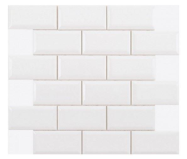 Декоративные элементы ADEX NERI Biselado PB Blanco Z (5х10) Enmallado
