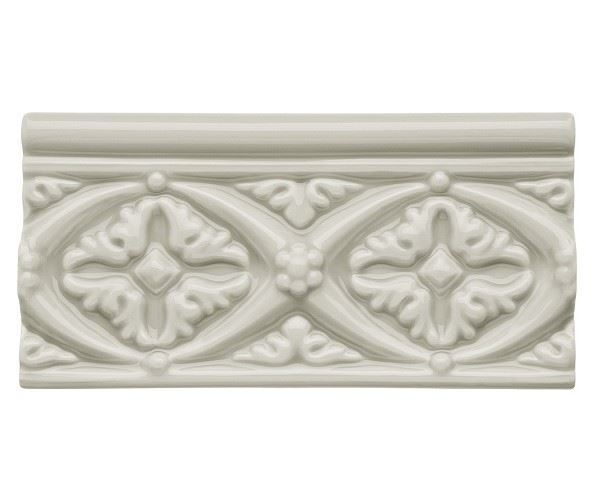 Бордюры ADEX NERI Relieve Bizantino Silver Mist