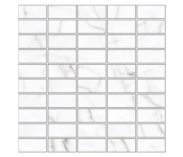 Мозаика /Керамогранит/ KERRANOVA / КЕРРАНОВА BLACK & WHITE Мозаика White / Белая Mix