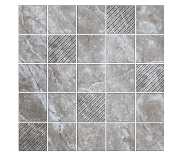 Мозаика /Керамогранит/ KERRANOVA / КЕРРАНОВА BLACK & WHITE Мозаика Grey / Серая Mix