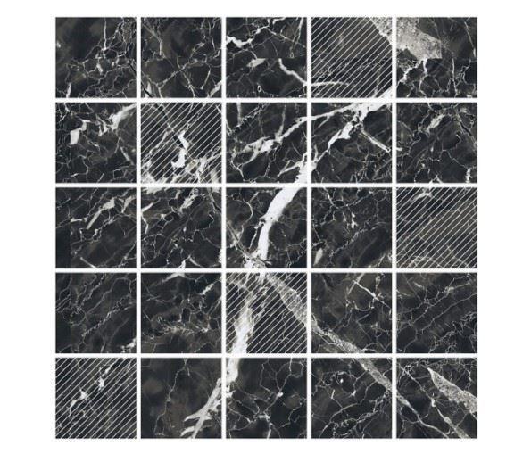 Мозаика /Керамогранит/ KERRANOVA / КЕРРАНОВА BLACK & WHITE Мозаика Black / Черная Mix