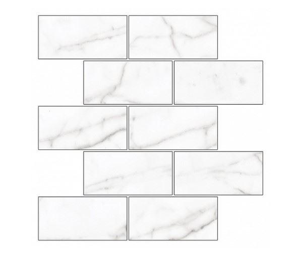 Мозаика /Керамогранит/ KERRANOVA / КЕРРАНОВА BLACK & WHITE Мозаика White / Белая лаппатированная